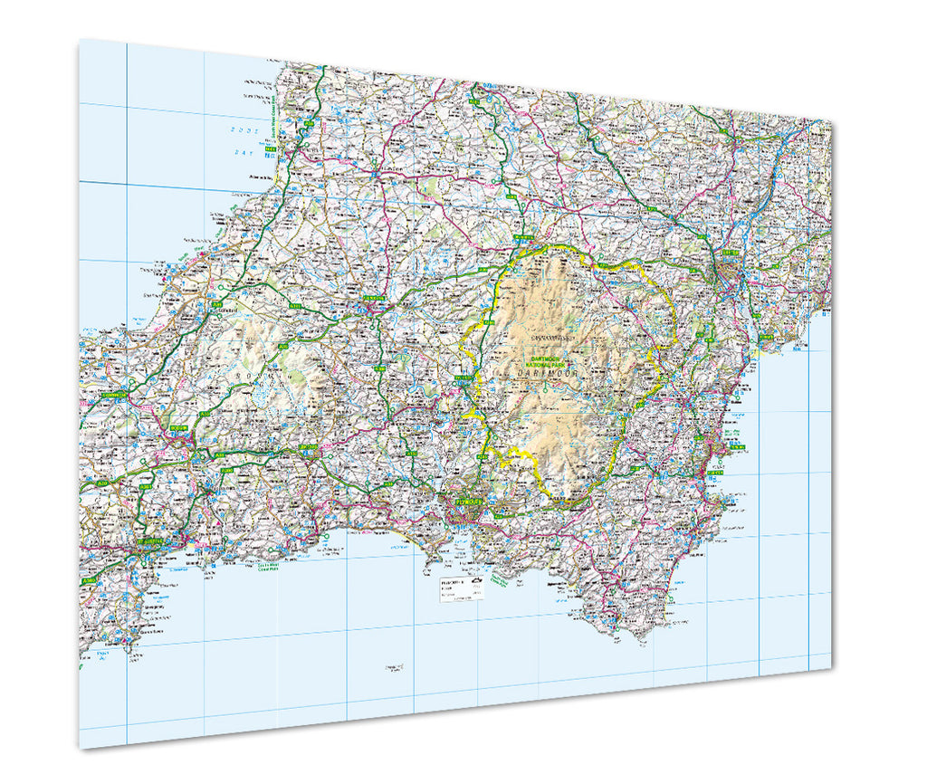 Map Poster - Custom GB Regional Map - Love Maps On... - 1