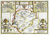 Map Canvas - Vintage County Map - Rutland - Love Maps On... - 2