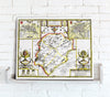 Map Canvas - Vintage County Map - Rutland - Love Maps On...