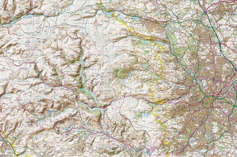 Map Canvas - Personalised Ordnance Survey Explorer Map with Hillshading (optional inscription)