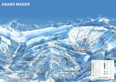 Piste Map Poster - Grand Massif