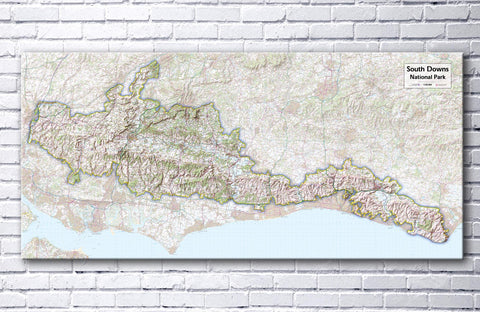 South Downs National Park - Map Poster