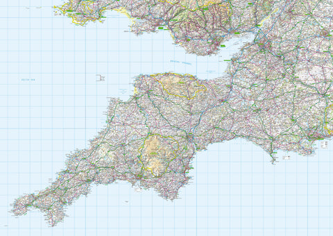 Map Wallpaper  - Southwest England