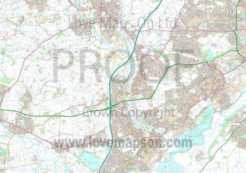 Map Poster - Custom OS High Detail Street Map - Love Maps On...