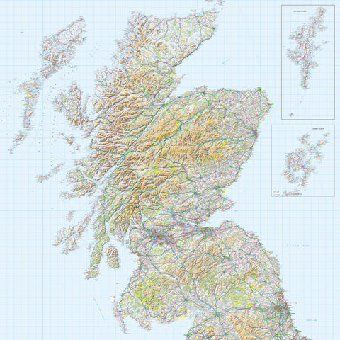 Map Wallpaper  - Scotland