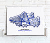 Football Stadium Map - Canvas Print - Love Maps On... - 27