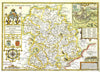 Map Canvas - Vintage County Map - Shropshire - Love Maps On... - 2
