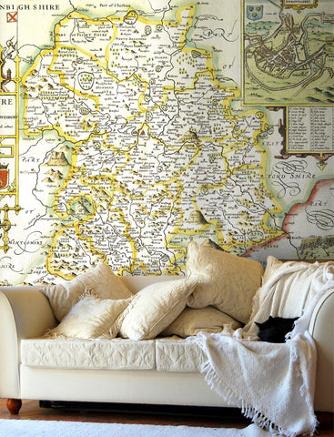 Map Wallpaper - Vintage County Map - Shropshire