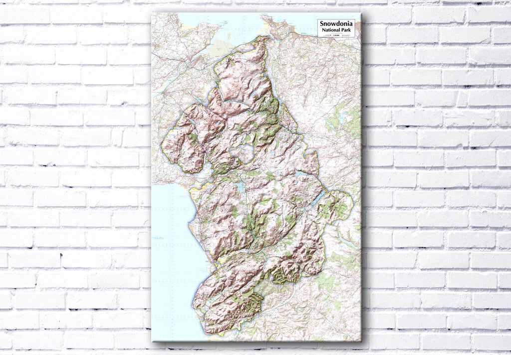 Snowdonia National Park Map Canvas Print - love maps on...