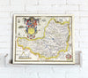 Map Canvas - Vintage County Map - Somerset - Love Maps On... - 2