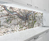Acrylic Splashback - Custom Vintage Ordnance Survey Map - 1920's (Popular Series) - Love Maps On...