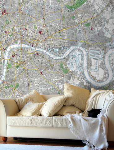 Map Wallpaper - London Streetmap - Stanford's Map of London 1891