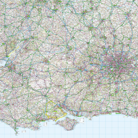 Map Wallpaper Uk Map Wallpaper   Central Southern England from Love Maps On