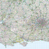 Map Wallpaper  - Central Southern England - Love Maps On... - 1