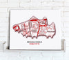 Football Stadium Map - Canvas Print - Love Maps On... - 30