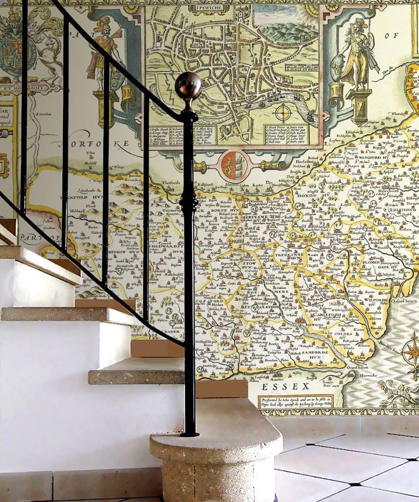 Map Wallpaper - Vintage County Map - Suffolk - Love Maps On... - 2