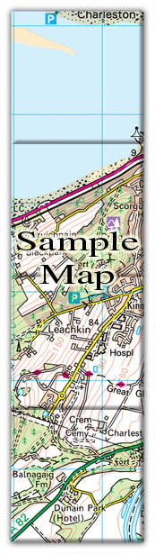 Ceramic Map Tiles - Personalised Ordnance Survey Landranger Map - Love Maps On... - 3
