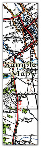 Ceramic Map Tiles - Personalised Vintage Ordnance Survey 1940's (New Popular Series) - Love Maps On... - 3