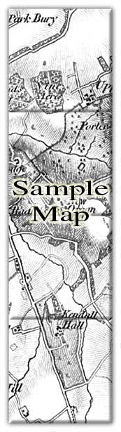 Ceramic Map Tiles - Personalised Vintage Ordnance Survey 1805-1874 (Old Series) - Love Maps On... - 39