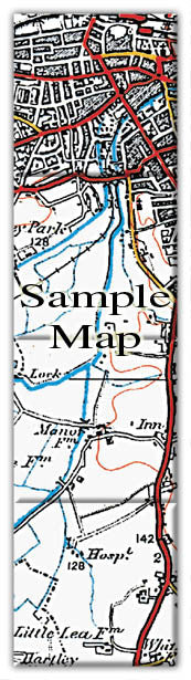 Ceramic Map Tiles - Personalised Vintage Ordnance Survey 1920's (Popular Series) - Love Maps On... - 3