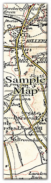 Ceramic Map Tiles - Personalised Vintage Ordnance Survey 1897-1904 (Revised New Series) - Love Maps On... - 39