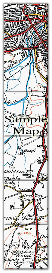 Ceramic Map Tiles - Personalised Vintage Ordnance Survey 1920's (Popular  Series)