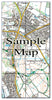 Ceramic Map Tiles - Personalised Ordnance Survey Explorer Map - Love Maps On... - 9