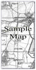 Ceramic Map Tiles - Personalised Vintage Ordnance Survey 1805-1874 (Old Series) - Love Maps On... - 5