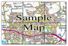 Ceramic Map Tiles - Personalised Ordnance Survey Landranger Map - Love Maps On... - 13