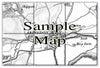 Ceramic Map Tiles - Personalised Vintage Ordnance Survey 1805-1874 (Old Series) - Love Maps On... - 9