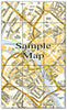 Ceramic Map Tiles - Personalised Ordnance Survey Street Map - Love Maps On... - 16