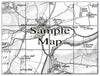 Ceramic Map Tiles - Personalised Vintage Ordnance Survey 1805-1874 (Old Series) - Love Maps On... - 16