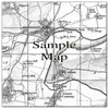 Ceramic Map Tiles - Personalised Vintage Ordnance Survey 1805-1874 (Old Series) - Love Maps On... - 17
