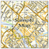 Ceramic Map Tiles - Personalised Ordnance Survey Street Map - Love Maps On... - 22