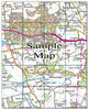 Ceramic Map Tiles - Personalised Ordnance Survey Landranger Map - Love Maps On... - 23