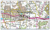 Ceramic Map Tiles - Personalised Ordnance Survey Landranger Map - Love Maps On... - 28