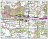 Ceramic Map Tiles - Personalised Ordnance Survey Landranger Map - Love Maps On... - 29