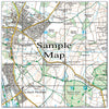 Ceramic Map Tiles - Personalised Ordnance Survey Explorer Map - Love Maps On... - 30