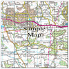 Ceramic Map Tiles - Personalised Ordnance Survey Landranger Map - Love Maps On... - 30