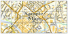 Ceramic Map Tiles - Personalised Ordnance Survey Street Map - Love Maps On... - 35