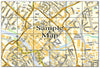 Ceramic Map Tiles - Personalised Ordnance Survey Street Map - Love Maps On... - 36