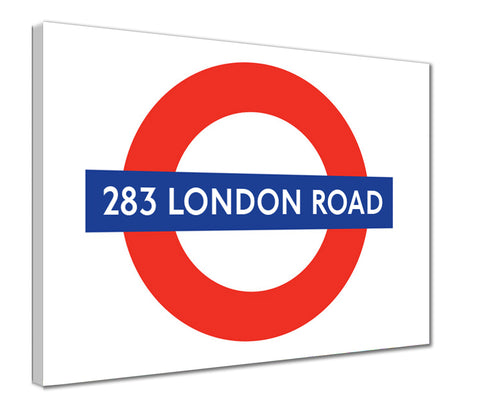 Canvas Print - Personalised Tube Roundel