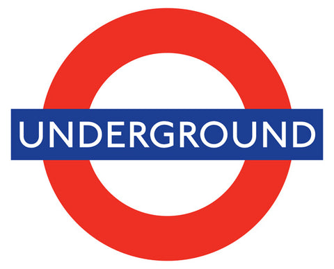 Ceramic Map Tiles - London Underground Roundel