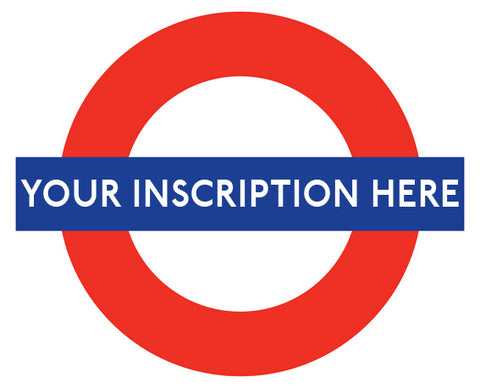 Ceramic Map Tiles - Personalised London Underground Roundel
