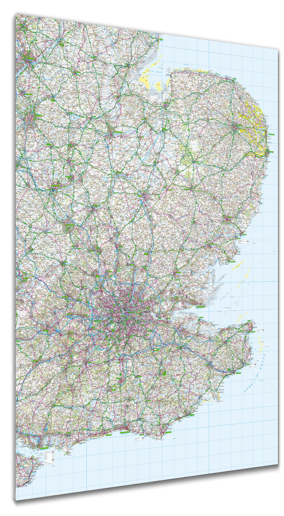 Map Of England Poster.Map Poster Gb Regional Map East Anglia And Southeast England