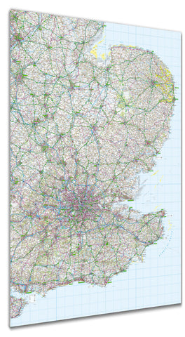 Map Poster - GB Regional Map - East Anglia and Southeast England
