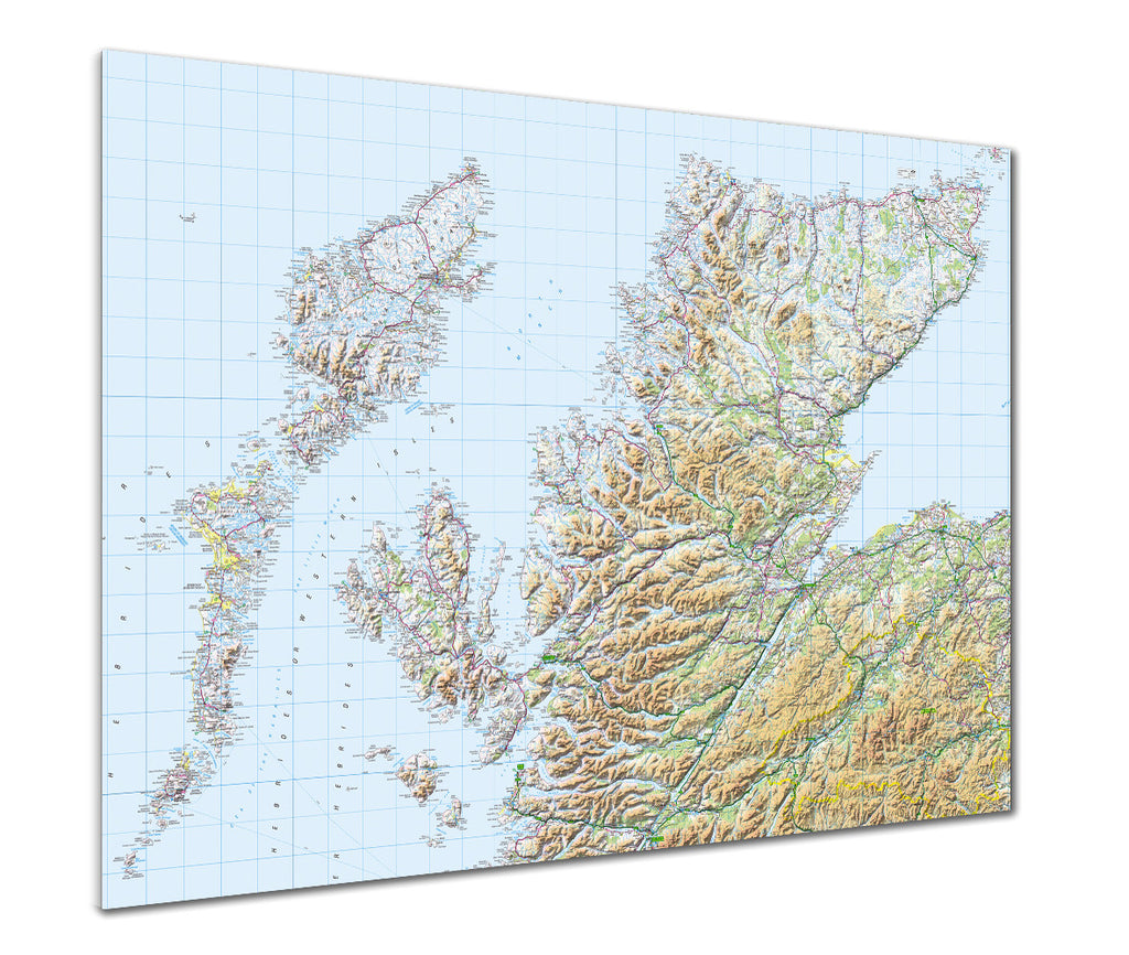 Map Poster - GB Regional Map - Scotland (Highlands & Islands) - Love Maps On... - 1