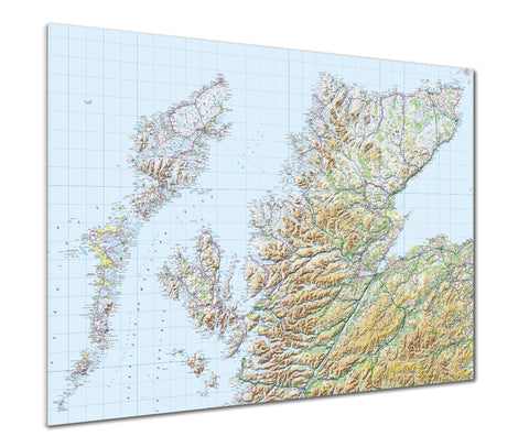 Map Poster - GB Regional Map - Scotland (Highlands & Islands)