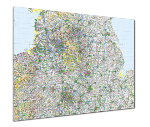 Map Poster - GB Regional Map - The Midlands