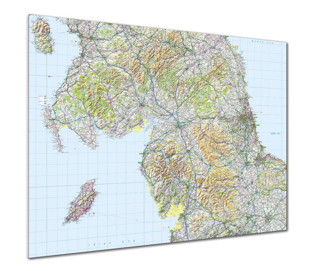 Map Poster - GB Regional Map - Northern England - Love Maps On...